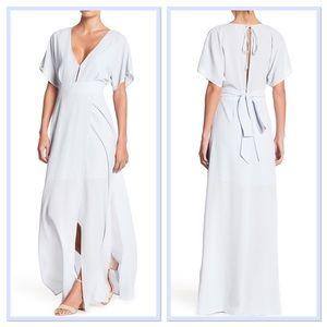 WAYF Short Dolman Sleeve Double Slit Maxi Dress